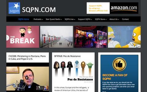 Screenshot of Home Page sqpn.com - SQPN.com - Leading the Way - captured Sept. 7, 2015