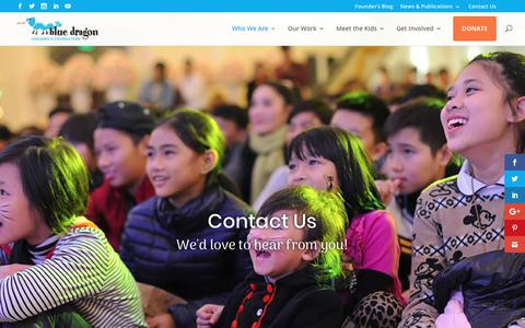 Screenshot of Contact Page bluedragon.org - Contact Us – Blue Dragon Children's Foundation - captured Oct. 10, 2017