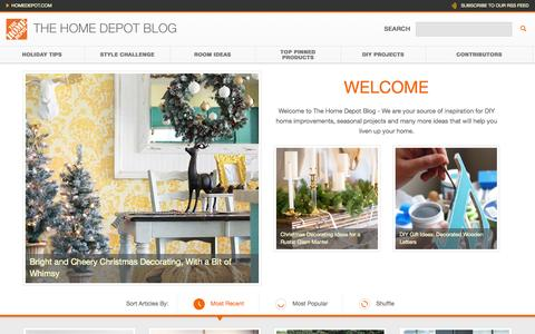 Screenshot of Blog homedepot.com - The Home Depot - captured Nov. 11, 2015