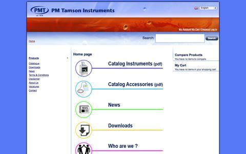 Screenshot of Home Page tamson.com captured Oct. 6, 2014