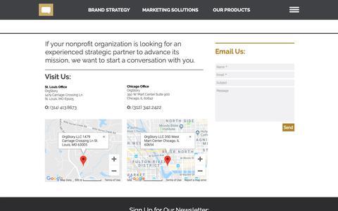 Screenshot of Contact Page orgstory.org - OrgStory Contact Information - captured Nov. 17, 2018