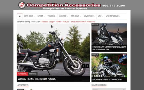 Screenshot of Blog compacc.com - Motorcycle Helmets, Motorcycle Jackets, Motorcycle Boots, and Motorcycle Gear Review Blog! - captured Sept. 19, 2014