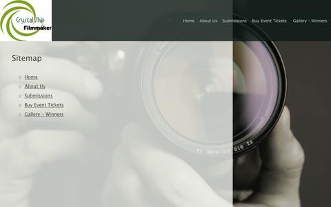Screenshot of Site Map Page plaza7ny.com - Crystal Ship Filmmaker Mini Indie Film Festival - Home - captured Nov. 8, 2016