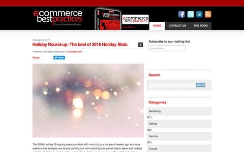 Screenshot of Home Page ecommerce-best-practices.com - eCommerce Best Practices - Ecommerce News & Tips - captured June 21, 2017