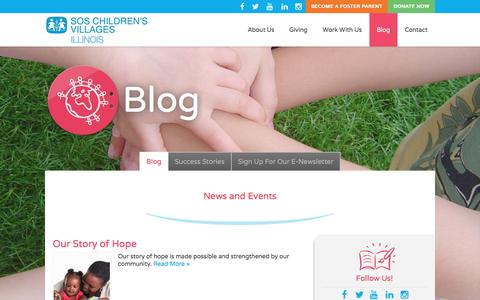 Screenshot of Blog sosillinois.org - Connect – SOS Children's Villages Illinois - captured Nov. 18, 2016