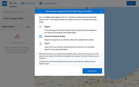 Screenshot of Maps & Directions Page americanexpress.com - American Express - Merchant Maps - captured Jan. 24, 2019