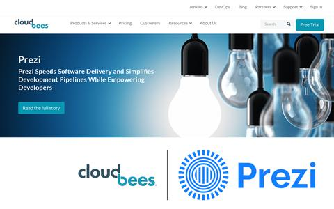 Screenshot of Case Studies Page cloudbees.com - (1) New Message! - captured Aug. 8, 2018