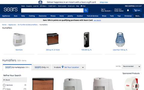 Humidifiers - Sears