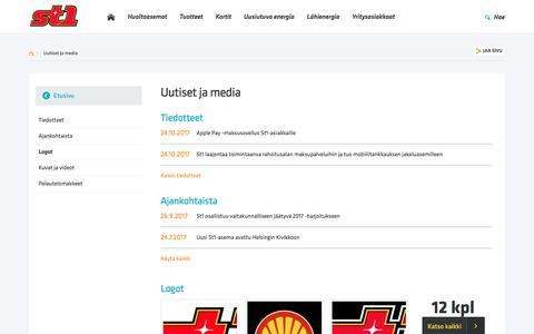 Screenshot of Press Page st1.fi - Uutiset ja media | St1.fi - captured Nov. 3, 2017