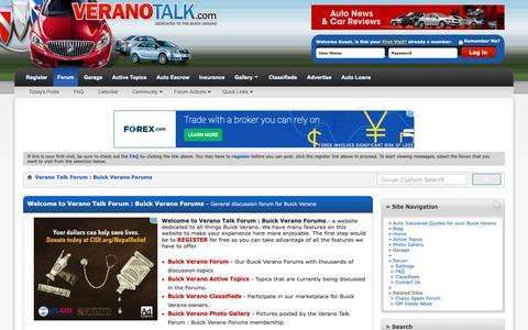 Screenshot of Home Page veranotalk.com - Verano Talk Forum : Buick Verano Forums - captured Oct. 22, 2018