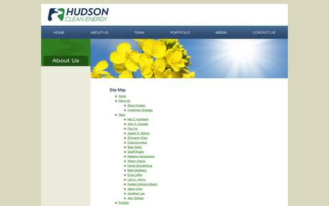 Screenshot of Site Map Page hudsoncep.com - Site Map | Hudson Clean Energy Partners - captured Oct. 1, 2014