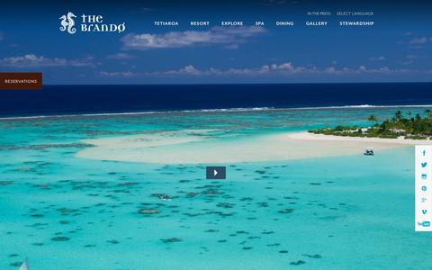 Screenshot of Home Page thebrando.com - Home - The Brando - captured Oct. 9, 2015
