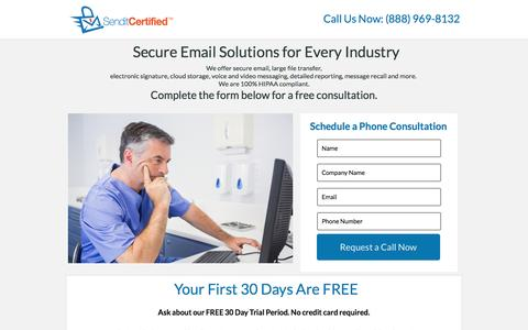 Screenshot of Landing Page instapage.com - Sendit Certified - captured May 31, 2016