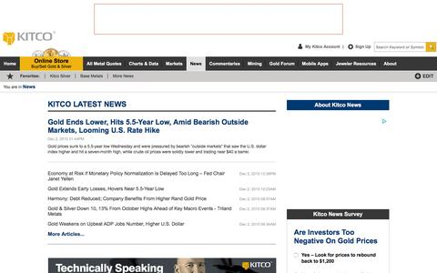 Screenshot of Press Page kitco.com - Kitco News - Latest U.S. & International Metals News, Top Shows, Economic Reports, Gold Survey, Gold Outlook, Interviews, Tech Metals,  Exclusive Features, Mining - captured Dec. 2, 2015