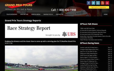 Screenshot of Blog gptours.com - Grand Prix Tours: Formula 1 Packages Race Tickets Hotels - captured Nov. 13, 2016