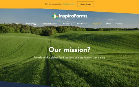 Screenshot of About Page inspirafarms.com - About InspiraFarms - captured Dec. 15, 2018