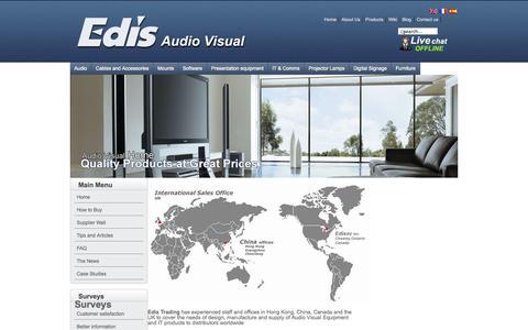 Screenshot of Contact Page edisav.com - Contact us - captured Oct. 2, 2014
