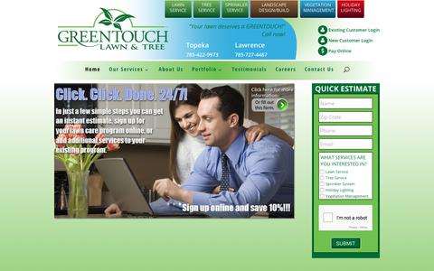Screenshot of Home Page greentouchservice.com - GreenTouch Lawn & Tree | - captured Sept. 21, 2017