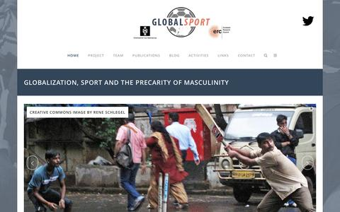 Screenshot of Home Page global-sport.eu - Global Sport | GLOBALSPORT - Globalization, Sport and the Precarity of Masculinity - captured Jan. 19, 2016