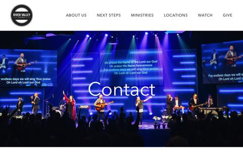 Screenshot of Contact Page rivervalley.org - Contact us | River Valley Church - captured June 21, 2016