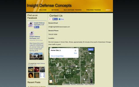 Screenshot of Contact Page insightdefenseconcepts.com - Contact Us | Insight Defense Concepts - captured Sept. 30, 2014