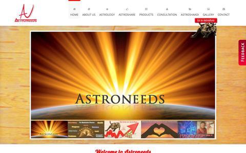 Screenshot of Home Page astroneeds.com - Best Astrologer in Pune   Nepali Rudraksha  Astrological Solutions in Pune  Astrological Products in Pune - captured Oct. 4, 2014