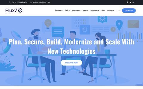 Screenshot of Home Page flux7.com - Flux7 Cloud Automation, DevOps, AWS Migration & Consulting - Flux7 - captured July 3, 2019