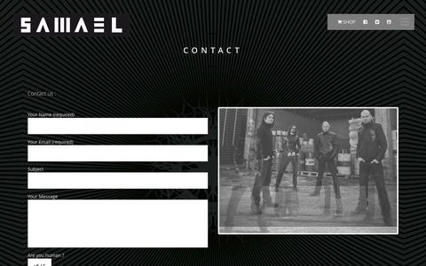Screenshot of Contact Page samael.info - Contact - S A M A E L official website - captured Dec. 22, 2015
