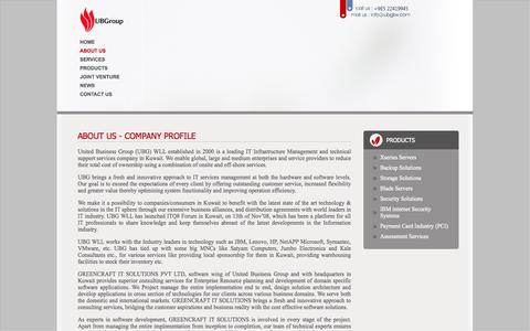 Screenshot of About Page ubgkw.com - :: United Business Group - Leader in IT Infrastructure Management and Technical Support Services in Kuwait :: - captured Oct. 27, 2014