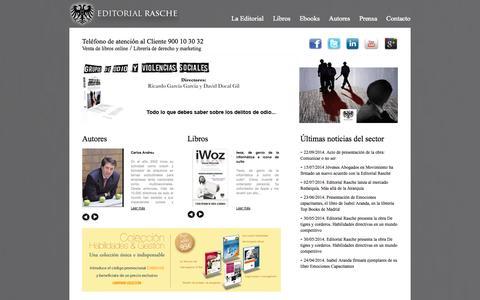 Screenshot of Home Page editorialrasche.es - Editorial juridica | venta libros online | libros derecho y marketing | Comprar libros online - captured Sept. 29, 2014