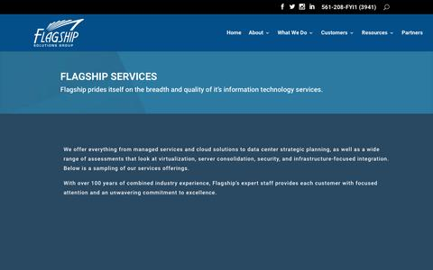 Screenshot of Services Page flagshipsg.com - Services | Flagship Solutions Group - captured May 27, 2019