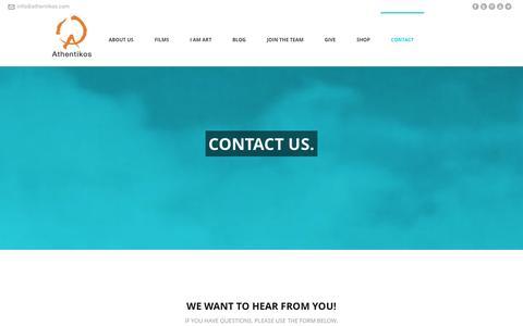 Screenshot of Contact Page athentikos.com - Athentikos   –  Contact - captured Sept. 30, 2014