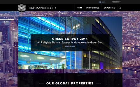 Screenshot of Home Page tishmanspeyer.com - Tishman Speyer   Commercial Real Estate - captured Sept. 24, 2014