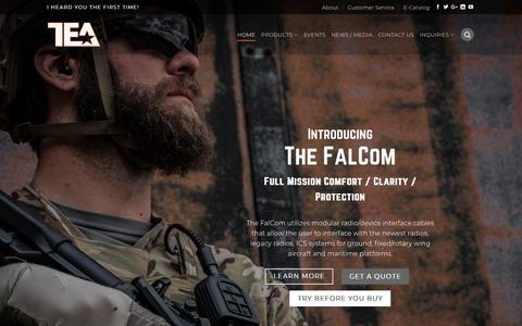 Screenshot of Home Page teaheadsets.com - Home ⋆ TEA Headsets - captured Sept. 25, 2018