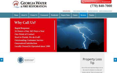 Screenshot of Testimonials Page georgiawaterandfire.com - TESTIMONIALS « Georgia Water & Fire Restoration - captured Sept. 27, 2018