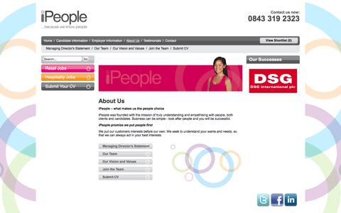 Screenshot of About Page ipeopleltd.co.uk - Retail Jobs in Dubai | About us | iPeople Ltd - captured Feb. 2, 2016