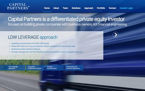 Screenshot of Home Page capitalpartners.com - Capital Partners | Private Equity Investments - captured July 18, 2015