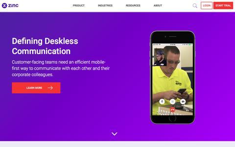 All Mode Communication Platform for the Enterprise | Zinc