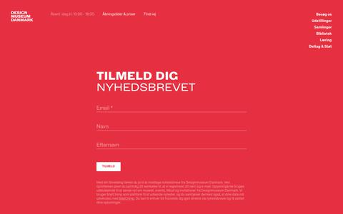 Screenshot of Signup Page designmuseum.dk - Sign up - Designmuseum Danmark - captured July 1, 2018