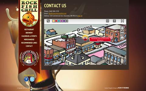 Screenshot of Contact Page anacortesrockfish.com - Contact Info/Directions - The Rockfish Grill - captured March 4, 2016