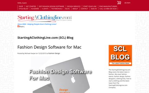 Screenshot of Blog startingaclothingline.com - Clothing Line News, Fashion & Style by Starting A Clothingline.com - The Store - captured Jan. 18, 2016