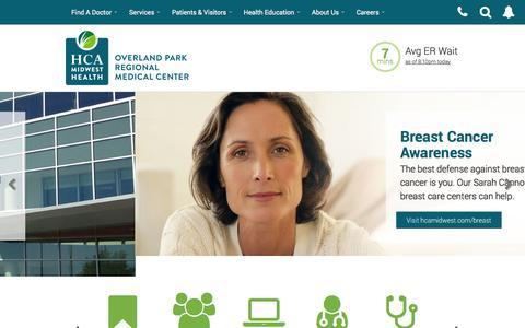 Screenshot of Home Page oprmc.com - Hospital | ER - Overland Park Regional Medical Center | Overland Park, KS - captured Oct. 9, 2014