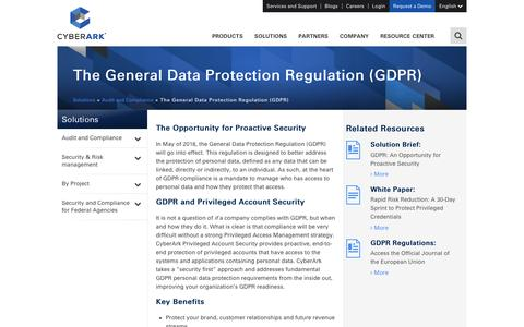 The General Data Protection Regulation (GDPR) - CyberArk