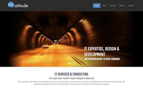 Screenshot of Home Page lookatitude.eu - Lookatitude - IT Services & Consulting, Lda - captured Oct. 3, 2014