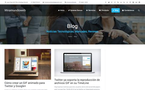 Screenshot of Blog miramundoweb.com - Blog de Noticias Tecnológicas, Manuales y Reviews - captured Oct. 1, 2014
