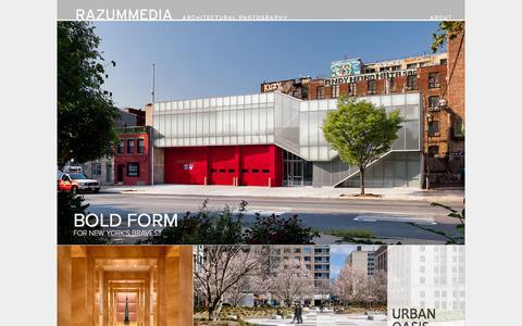 Screenshot of Home Page razummedia.com - Architectural Photography by RAZUMMEDIA - captured Oct. 7, 2014