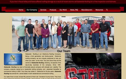 Screenshot of About Page staterfg.com - About Statewide Roofing | Statewide Roofing Oklahoma - captured Oct. 7, 2014