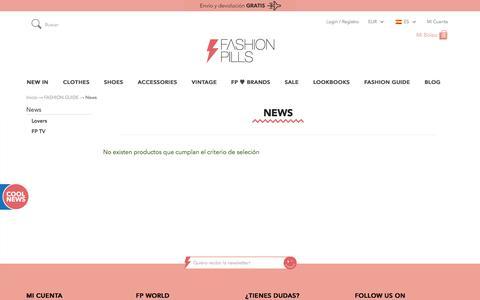 Screenshot of Press Page fashion-pills.com - Comprar moda online | Fashion Guide | Novedades | Fashion Pills - captured Sept. 22, 2014