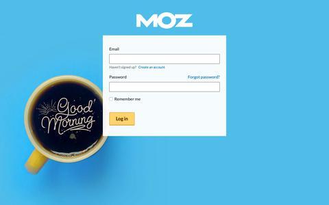 Screenshot of Login Page moz.com - Welcome! Log In Here - Moz - captured Nov. 7, 2018