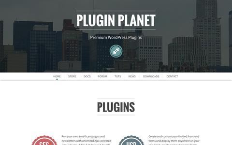 Screenshot of Home Page plugin-planet.com - Plugin Planet | Premium WordPress Plugins - captured Nov. 17, 2015